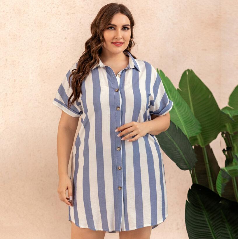 Striped Plus Size Formal Dresses 2022