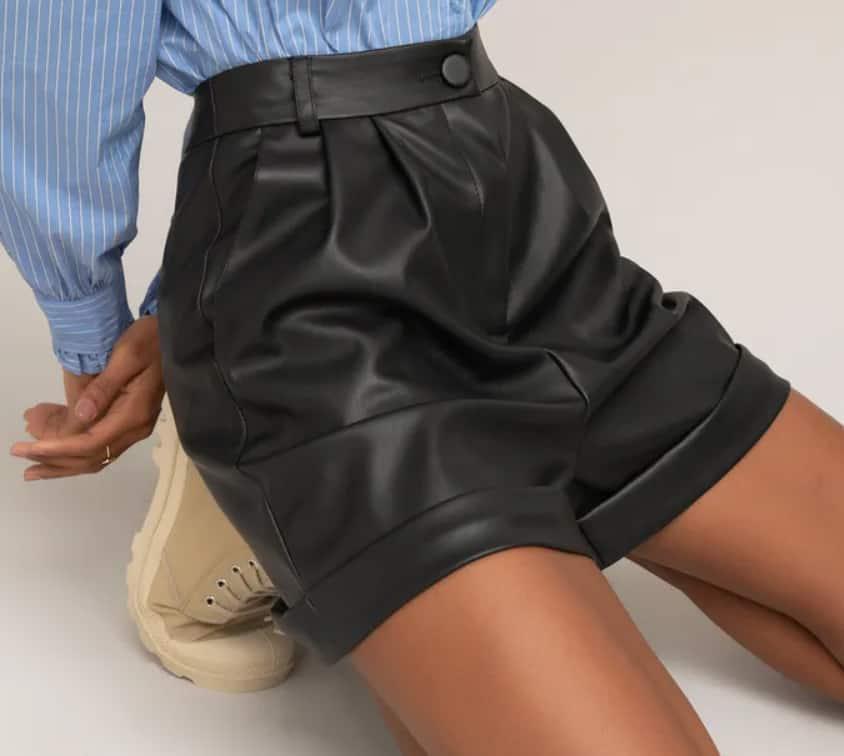 Leather Shorts 2022