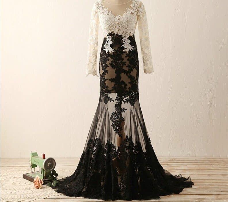 White and Black Prom Dresses 2022