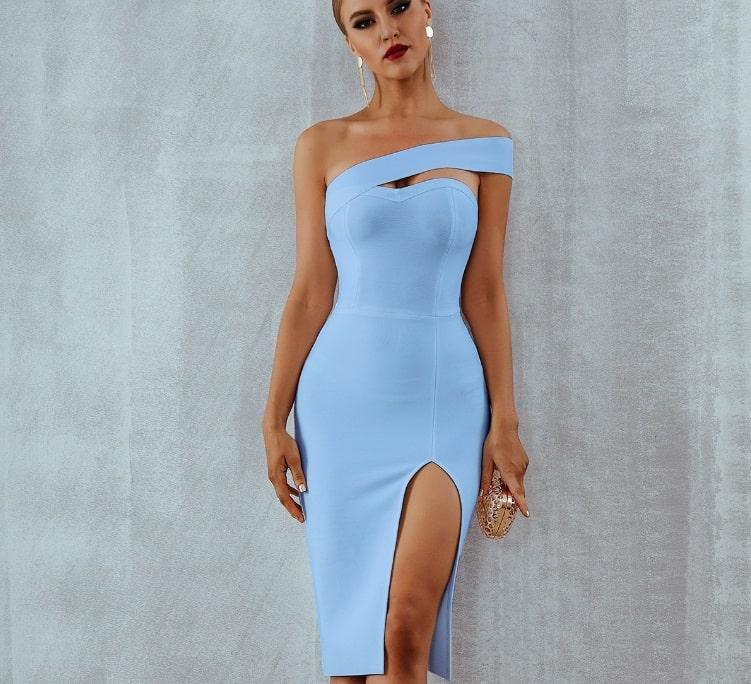 Asymmetrical Hem Dress 2022