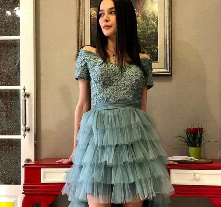 Dress with Frills and Ruffles 2022