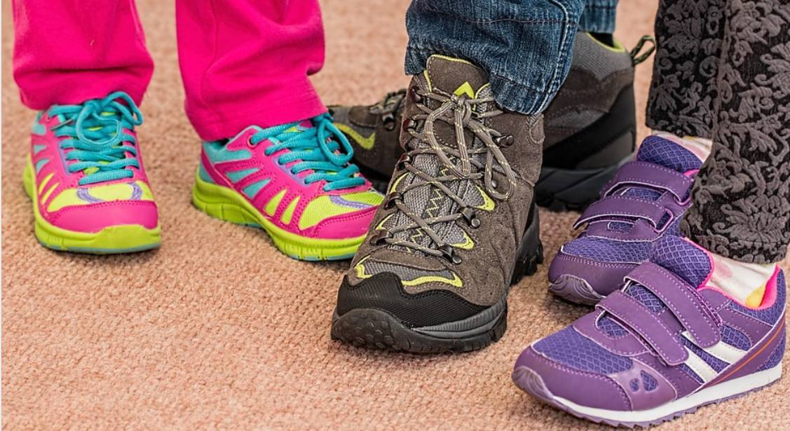 Tie-Dye Prints, Rainbows, Bright and Neon Colors kids shoes 2022